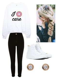 """#D🍩nut🍩utfit"" by elsiewolfgramm ❤ liked on Polyvore featuring River Island, Converse and Cartier"