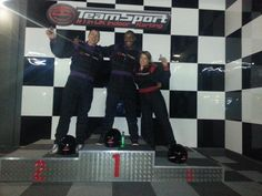 Go kart racing with the Insight team.
