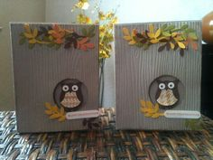 Owls on Thanksgiving Day by Chanron - Cards and Paper Crafts at Splitcoaststampers