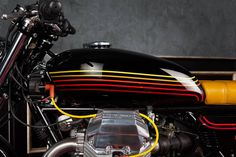 "Moto Guzzi ""Champion"" by Mr Martini source: Cafe Racer Garage Triumph Motorcycles, Custom Motorcycles, Custom Bikes, Motorcycle Paint Jobs, Motorcycle Style, Motorcycle Quotes, Motorcycle Design, Moto Guzzi California, Guzzi V7"