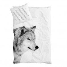 By Nord Wolf Bed Single Duvet Cover & Pillow Set