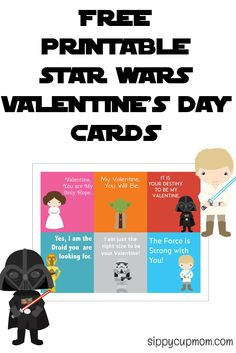 Free Printable Star Wars Valentine's Day Cards!