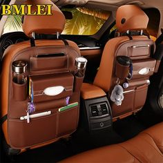 """Universe of goods - Buy """"OHANEE leather Car back seat organizer storage pockets case for ford bmw passat toyota peugeot car styling lada accessories"""" for only USD. Backseat Car Organizer, Leather Car Seats, Bmw 5, Cute Car Accessories, Seat Storage, Extra Storage, Back Bag, Car Gadgets, Cute Cars"""