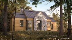 QUELQUES MAISONS MÉTISSES… – Adornetto Farmhouse Architecture, Modern Farmhouse Exterior, Lac Champlain, My Dream Home, Sweet Home, Shed, Outdoor Structures, House Design, Cabin
