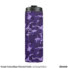 Purple Camouflage Thermal Tumbler