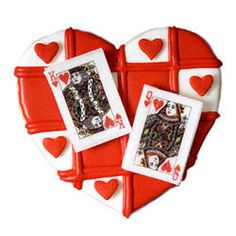 This suit of miniature playing cards wafer paper will surely capture the heart of your intended! Perfect for accessorizing a special cookie, cake or cupcake. Each card measures x Cookie Decorating Supplies, Baking Supplies, No Fail Sugar Cookie Recipe, Poker Cake, Sports Themed Cakes, Magic Party, Poker Party, Casino Cakes, Wafer Paper