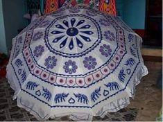 Garden Umbrella Handicraft, Blackwork, Garden, Hand Fans, Shades, Style, Craft, Garten, Arts And Crafts