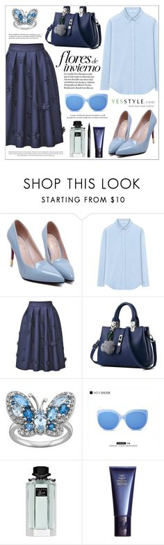"""YESSTYLE.com"" by teryblueberry ❤ liked on Polyvore featuring miim, Gucci, Space NK, Urban Decay, Winter and yesstyle"