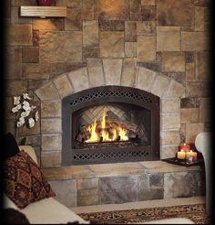 River Stone Fireplace river stone fireplace   anywhere fireplaces   pinterest   river