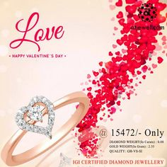 Design Of The Day...... ATJewel Presents a Valentines Season Special Beautiful Hearo Diamond Ring For Your Loving One,at Best Prize.Shop Now #ATJewel #Diamond #Ring #Gold #HeartCollection #ValentinesSeason #Love http://bit.ly/2kP7IMU