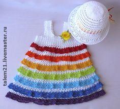 Одежда для девочек, ручной работы. Ярмарка Мастеров - ручная работа Платье для девочки РАДУГА. Handmade.