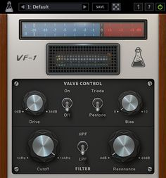AudioThing Valve Filter VF1 GUI