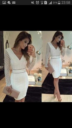 Image may contain: 2 people Elegant Dresses, Sexy Dresses, Cute Dresses, Dress Outfits, Casual Dresses, Short Dresses, Fashion Dresses, Formal Dresses, Dress Skirt
