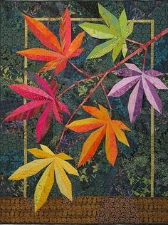 Explosion of Color fall branch quilt by Terry Aske