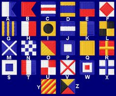 maritime alphabet flags
