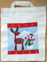 Weihnachtstasche-Elch-und-Schneemann