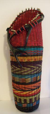 Indian Blanket Antler Basket