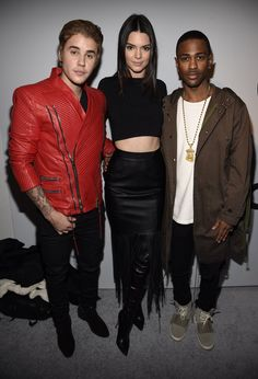 Pin for Later: Everything You Need to Know About Kanye x Adidas Can't Forget Bieber Pictured with Ariana Grande's love, Big Sean, and Kendall Jenner.