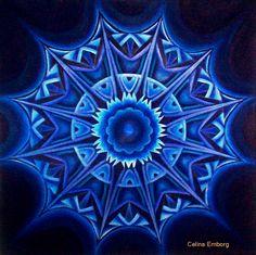 #Mandala azul l#taller de mandalas #curso el significado del color en los #mandalas   #Rayo azul , #Celina Emborg