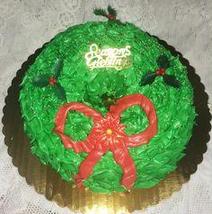 Wreath cake from Mueller's Bakery!