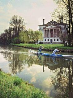 "Villa Foscari (""La Malcontenta"") designed by Andrea Palladio) Andrea Palladio, Regions Of Italy, Italian Villa, Sustainable Tourism, Visit Italy, Wonders Of The World, Venice, Italian Houses, Beautiful Places"