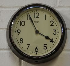 1940s Vintage Retro Brown Bakelite Smiths Wall Clock Battery FWO Fab Condition