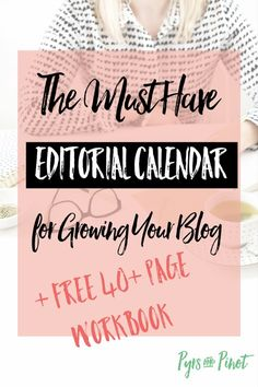 Being a blogger can be a bit overwhelming at times. What content should I put out on my blog? How often should I blog? We want to do all the things but end up doing nothing. An editorial calendar is you answer to relaxing about your blog. Click through to read and snag the 40+ page workbook!