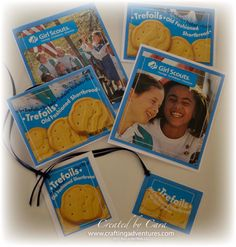 Girl Scout Cookie Box Notecards