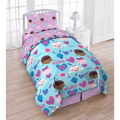 Disney doc McStuffins 4-Piece Reversible Twin Bedding Set with Bonus Tote
