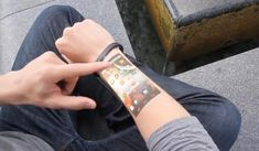 Cicret Bracelet- a tablet on your skin | wordlessTech With the Cicret Bracelet concept, working as an extension of your smartphone, you can make your skin the new touchscreen. When wearing the Cicret Bracelet …