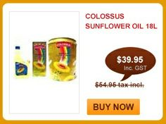 Colossus Sunflower Oil 18L  $39.95 only. Buy Now: http://www.shahiindia.com.au/colossus-sunflower-oil-18l.html