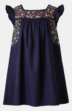 Mini Boden Embroidered Dress (Toddler Girls) available at #Nordstrom