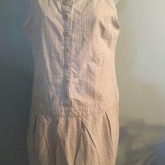 Sleeveless gray and white dress Sleeveless grande white cotton and mini dress Dresses Mini
