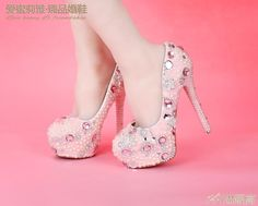 69.98$  Watch here - http://ali38j.worldwells.pw/go.php?t=32558825043 - 2016 Women Pumps Pink Wedding Dress Shoes Handmade Platforms Ultra High Heels Bling Diamond Bridal Shoes Girl Prom Party Shoes 69.98$