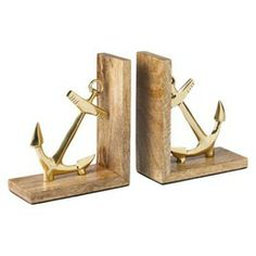 Threshold™ Anchor Bookends - Gold $24.99 from Target.