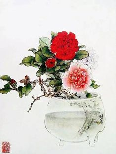 Watercolor And Ink, Watercolor Flowers, Watercolor Paintings, Chinoiserie Wallpaper, China Art, Chinese Painting, Oriental, Drawings, Fairytale