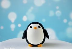 Penguin Figurine / Kawaii Quail-Egg-Shaped Cake Cupcake Topper / Collectible Toy by Naboko Studio