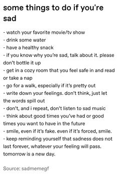 Some things to do if you're Feeling Down, How Are You Feeling, Quotes To Live By, Life Quotes, Get My Life Together, Mental And Emotional Health, Self Care Activities, Self Improvement Tips, Pretty Words