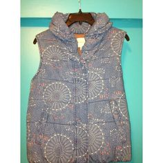 Anthropologie Vest Super cute pattern, goes with more then you think! Very soft fabric inside and outside. In perfect condition. Bought last season! Size Small but will also fit a medium. Trade value $125 looking to trade or sell. Anthropologie Jackets & Coats Vests