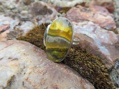 Bumblebee Jasper ring, size 8 #523 by Sandy River Jewelry  www.sandyriverjewelry.com