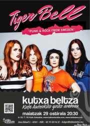 Tiger Bell. Kafe Antzokia (Kutxa beltza), Bilbao, 29/V/2015. Cartel
