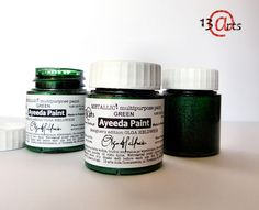 13 arts SPRING RELEASE - NEW PRODUCTS!!! New Metallic Paint  Green (also in Old Silver and Turquoise)