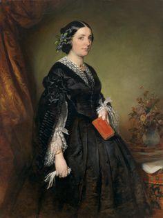 """""""Portrait of Karoline Stiffel-Ecalard"""" by Friedrich von Amerling"""