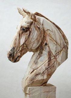 Jürgen Lingl-Rebetez was born in 1971 in Bad Tölz, Bavaria, Germany. Art Sculpture En Bois, Horse Sculpture, Animal Sculptures, Abstract Sculpture, Wire Sculptures, Bronze Sculpture, Art Pierre, Art Gallery, Wood Carving Art