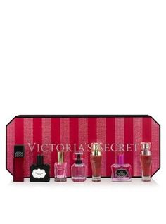 Victoria Secret Must Have Eau De Parfum Gift Set: Dream Angels Heavenly, Forever, Very Sexy, Sexy Little Things Noir, Sexy Little Things Noir Tease, Bombshell and Gorgeous. 7 Piece set of mini perfumes ,25 oz each.