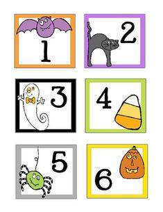 October / Halloween * FREE * Calendar Cards