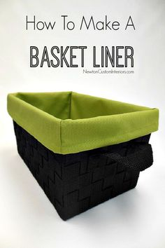 How To Make A Basket Liner. Learn how to make this cute basket liner with this detailed sewing tutorial.