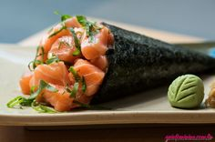 nome de comida japonesa: temaki