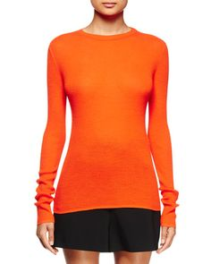 Long-Sleeve Open-Back Sweater, Electric Red, Size: M - Proenza Schouler