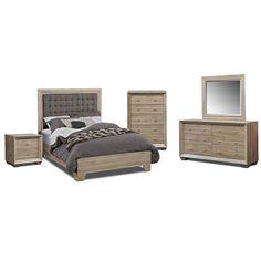 Bedroom Furniture-Highland Birch 7 Pc. Queen Bedroom